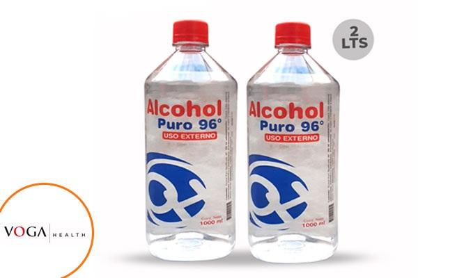 02 frascos de Alcohol de 96° Marca Alkohler de 1 LT c/u ¡Alta pureza! delivery