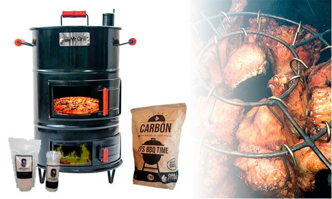 Cilindro CHICO o MEDIANO fierro carbon o sal de regalo de Grill Store BBQ & Outdoors