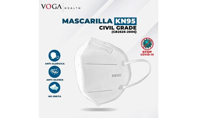 Pack de 5 Mascarillas KN95 Civil Grade con certificacion delivery
