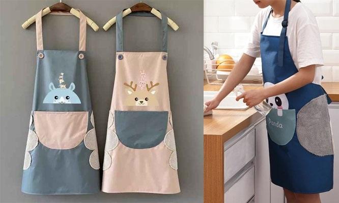 Mandil de cocina impermeable con secador lindos diseños ¡Incluye delivery!