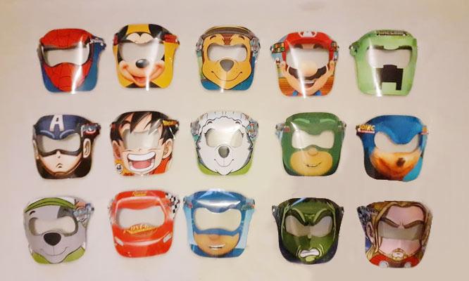 2x1 Protector facial con diseños variados para niñ@s con On Line Lima Store