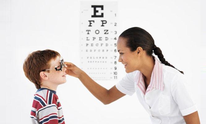 Evaluacion visual para niños montura resina UV y mas