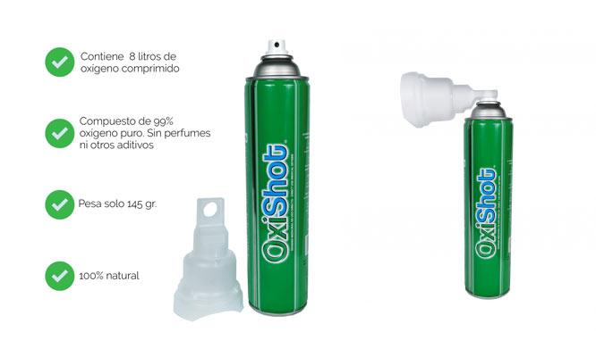 Oxishot tanque de oxigeno medicinl personal 120 aspiraciones ¡Incluye delivery!