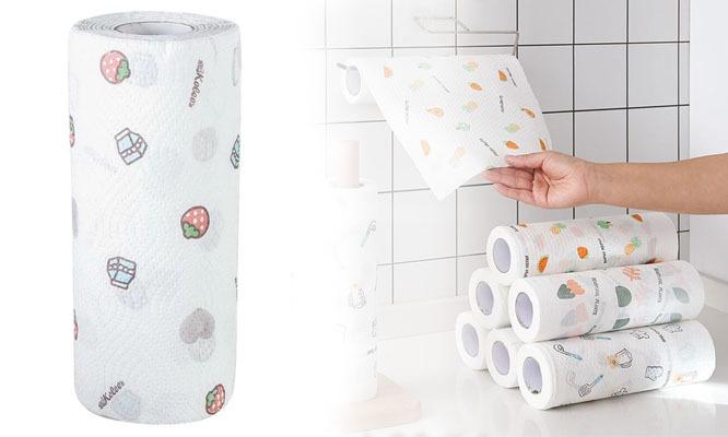 2 rollos de papel toalla reutilizable ¡Lo lavas y lo vuelves a usar!¡Incluye delivery!
