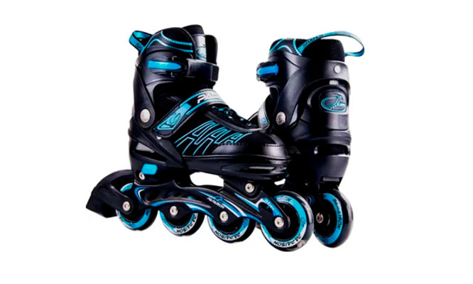 Patines Roller Skates Profesionales-Black and Blue delivery incluido