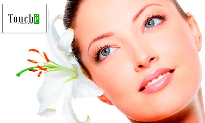 Facial aclarante o rejuvenecedor con fototerapia LED