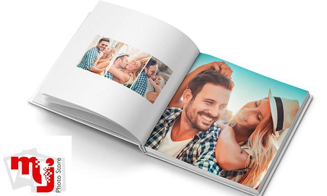 Impresion de photobook de 20 paginas con tapa tipo lino en formato a eleccion