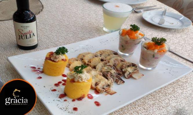 Happy Hour para 2 Pisco sours fuente de piqueo gourmet