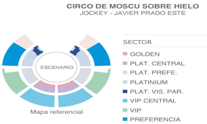 Entrada VIP o VIP Central a eleccion para el Circo de Moscu sobre hielo