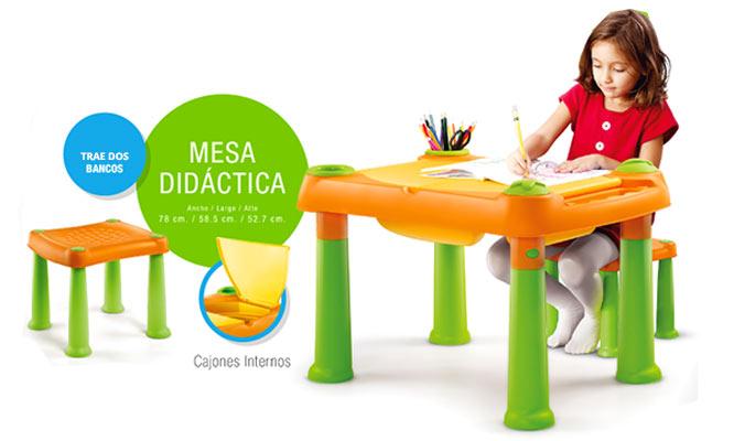 Mesa didactica para niñ@s con colores a elegir inlcuye dos bancas ¡Incluye delivery!