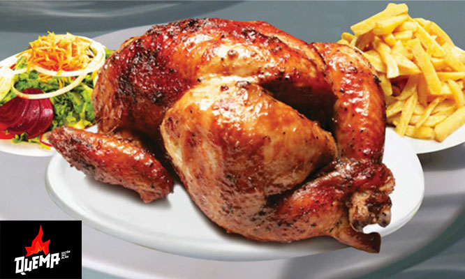 Pollo a la brasa papas ensalada cocida con opcion a Delivery