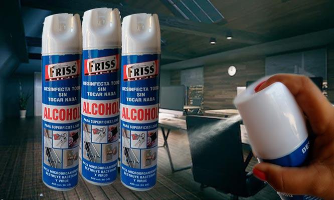 3 Latas de Alcohol en aerosol limpia superficies delivery