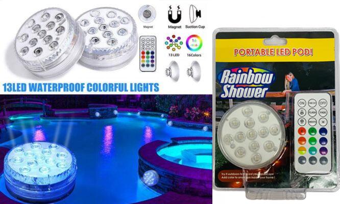 Lampara Acuatica Rainbow Shower con Focos LED sumergible ¡Incluye delivery!