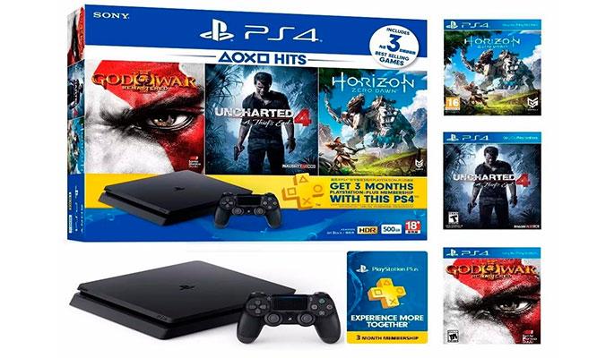 Delivery Consola PlayStation®4 Slim 500GB 3 juegos garantia y delivery