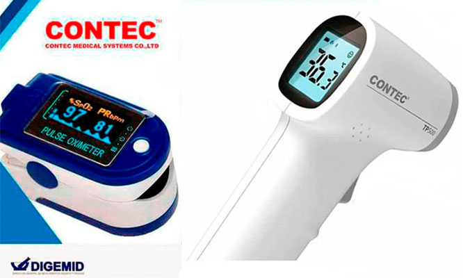 Pulsioximetro Termometro Infrarrojo Digital CONTEC ORIGINAL Delivery
