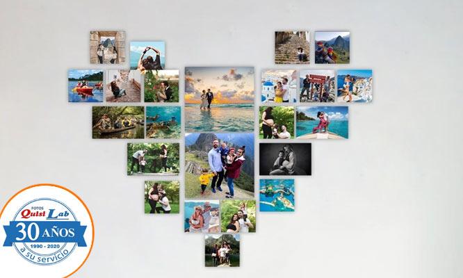 Impresion de 23 Fotos Decorativas en forma de corazon con Quisilab Fotos