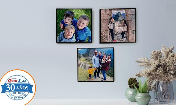Set de 3 cuadros Decorativos con Quisilab Fotos