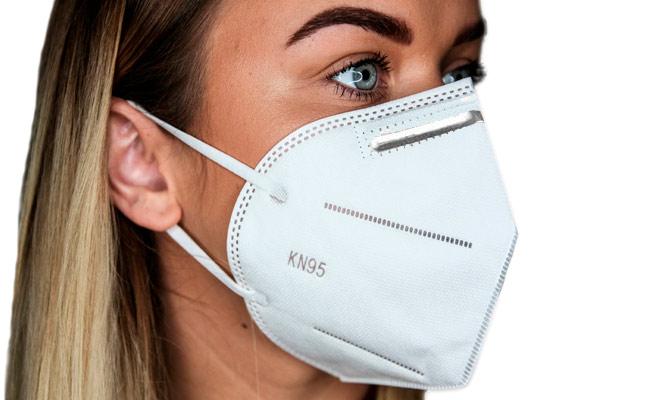 Caja de 10 mascarillas KN95 5 capas con ajuste nasal Incluye delivery en 24 a 48hrs!