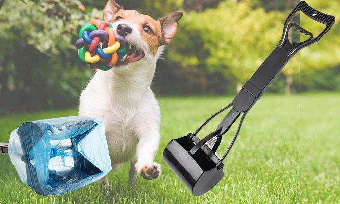 Recogedor de desechos portatil para mascotas elige color