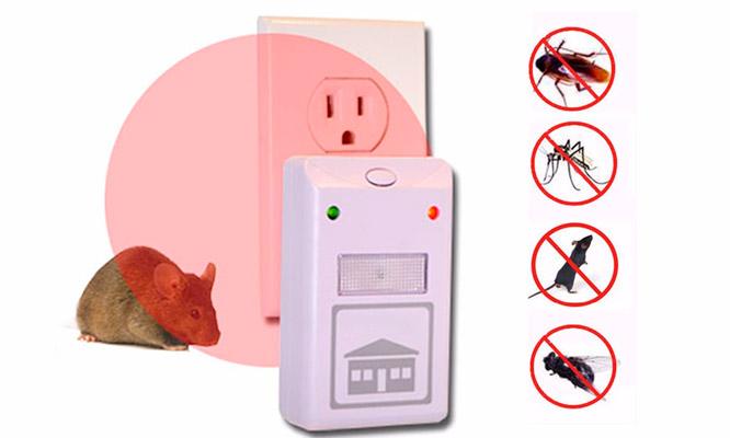 1 repelente ultrasonido que ahuyenta insectos roedores y mas