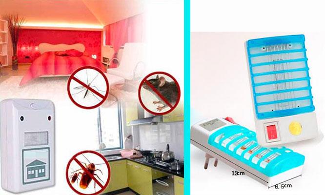 Trampa mata zancudos con luz ultravioleta opcion a Repelente ultrasonido antiroedores