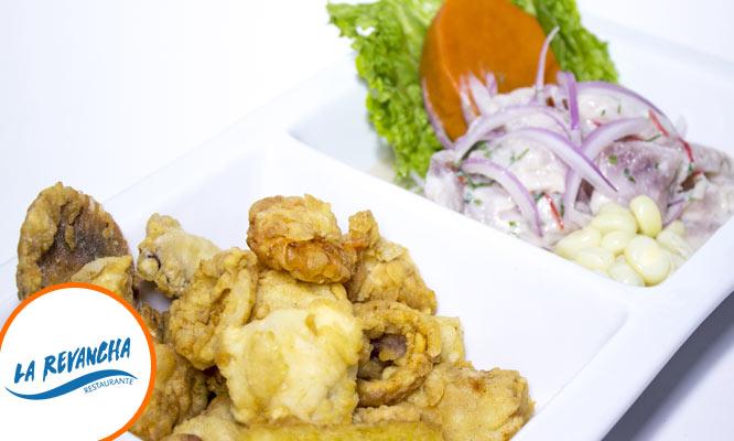 Duo marino Arroz con mariscos ceviche y mas con La Revancha / Opcion a delivery