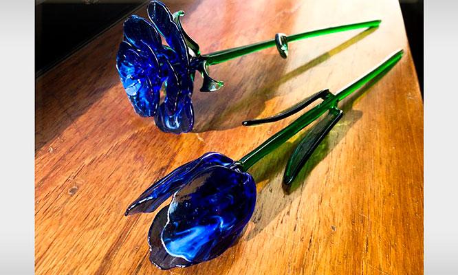 Tulipanes o rosas de vidrio o murano hechas a mano ¡Regala con amor!