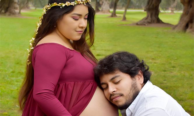 Sesion de fotos embarazadas digitales retocadas impresas billetera y mas