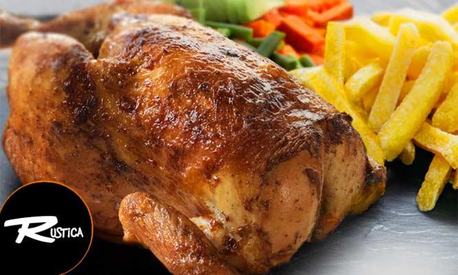 01 Pollo a la brasa papas ensalada gaseosa Inka Cola de 15 Lt