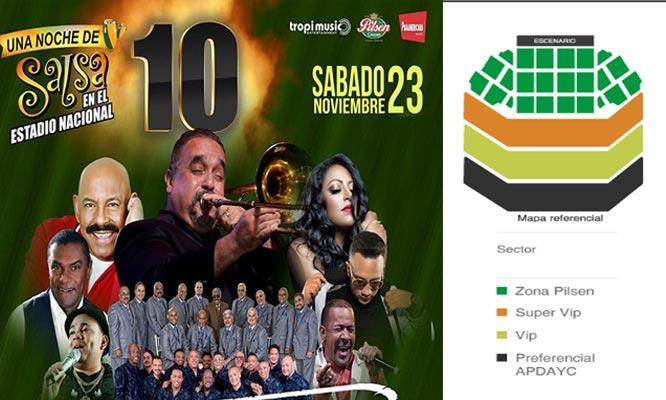 01 entrada para Zona Pilsen - UNA NOCHE DE SALSA 10 - 23/11