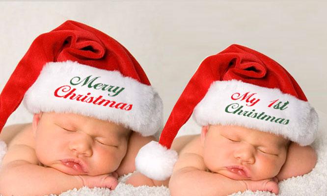 Gorro de Santa bordado personalizado para bebes niños adulto¡Incluye delivery!