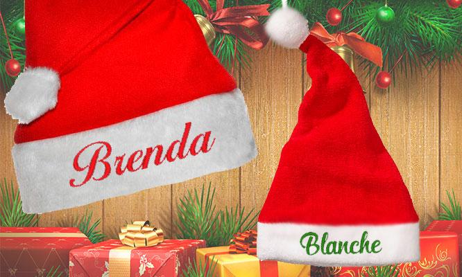 Gorro de Santa con bordado personalizado para bebes niños adultos delivery b67e3f16aa1