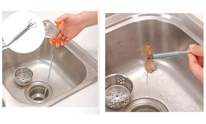 Desatorador de drenaje lavadero ducha cocina baño tipo pinza ¡Incluye delivery!