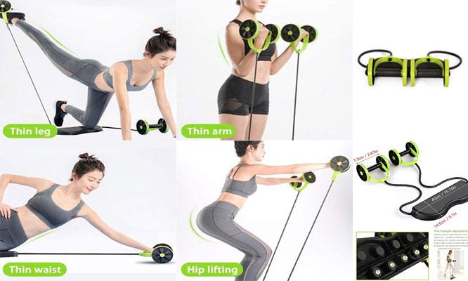Multifuncional rueda con liga para ejercitar todo el cuerpo ¡Incluye delivery!