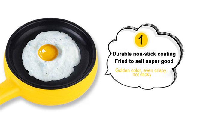 Hervidor de huevos freidor electrico cocedor sarten 2 en 1 ¡Incluye delivery!