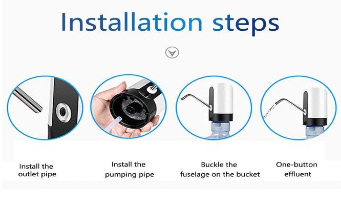 Bomba de agua electrica recargable con carga USB ¡Con delivery en 24hrs!