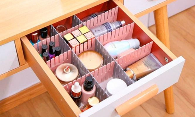 8 divisores de red creativos para cajon de escritorio y cocina