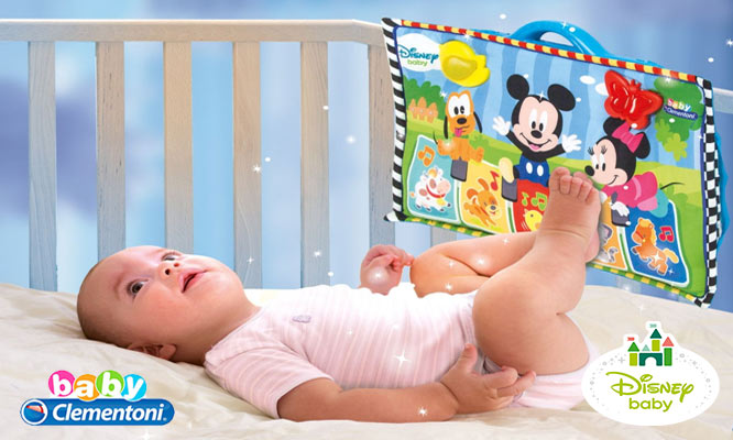 Disney® Baby - Baby Clementoni® - Mickey Mouse Panel de cuna delivery