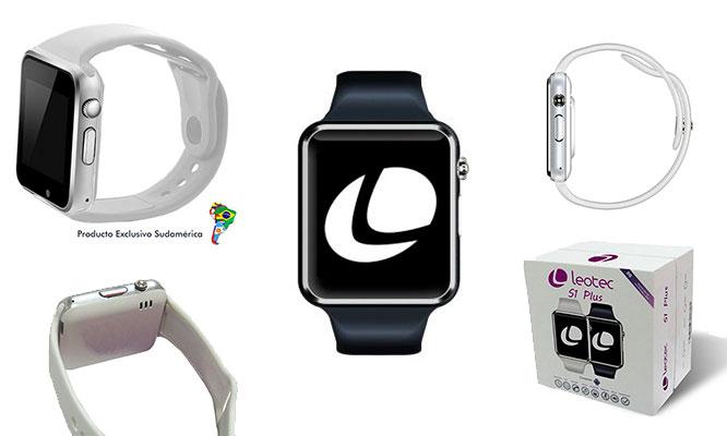 Leotec Smartwatch Sport Blanco o Negro - Pantalla Ips 154 -SIM 2G Silicona