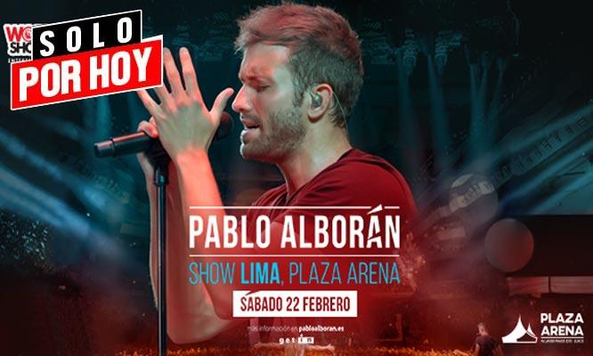 Pablo Alboran entrada a zona Work Shows - 22/02