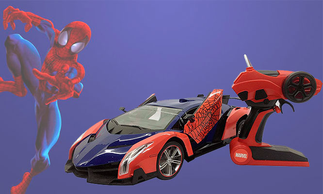 Auto a control remoto Spider Man o Capitan America