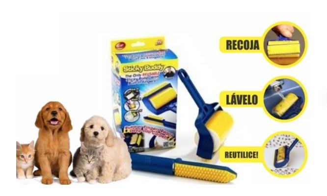 Kit Limpiador pelusas en Rodillo motas pelos de mascotas en la ropa y las alfombras