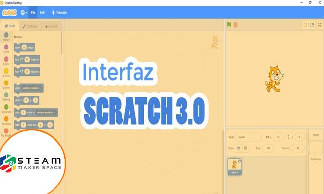 Taller Programando personajes divertidos con Scratch 30 con Steam Maker