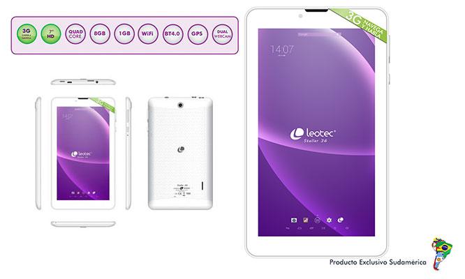 Phablet 7Leotec Stellar 3G HD - Dual SIM - Android 51 y mucho mas