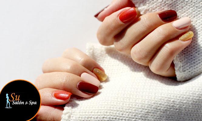 Pintado de uñas con color gel 1 uña con decoracion