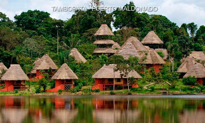 Puerto Maldonado Full day en bote por rio Madre de Dios y Tambopata Puente Continental