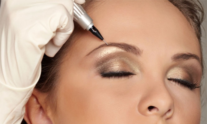 Diseño perfilacion y maquillaje permanente o microblading de cejas pelo a pelo
