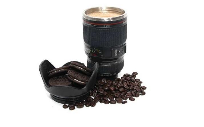 Tazas en forma de lente de camara Mug