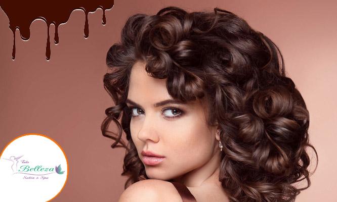 ChocoTreat Reacondicionamiento con Chocolate lavado aplicacion de mascarilla y mas
