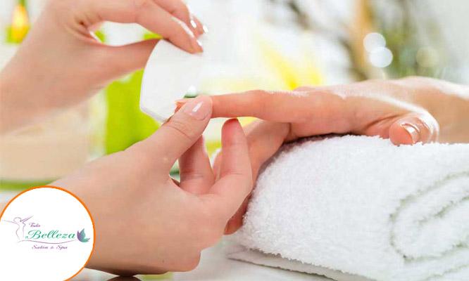 Manicure color o Francesa depilacion cera en cejas o bozo